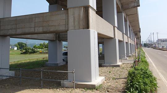 高架橋 耐震補強工事